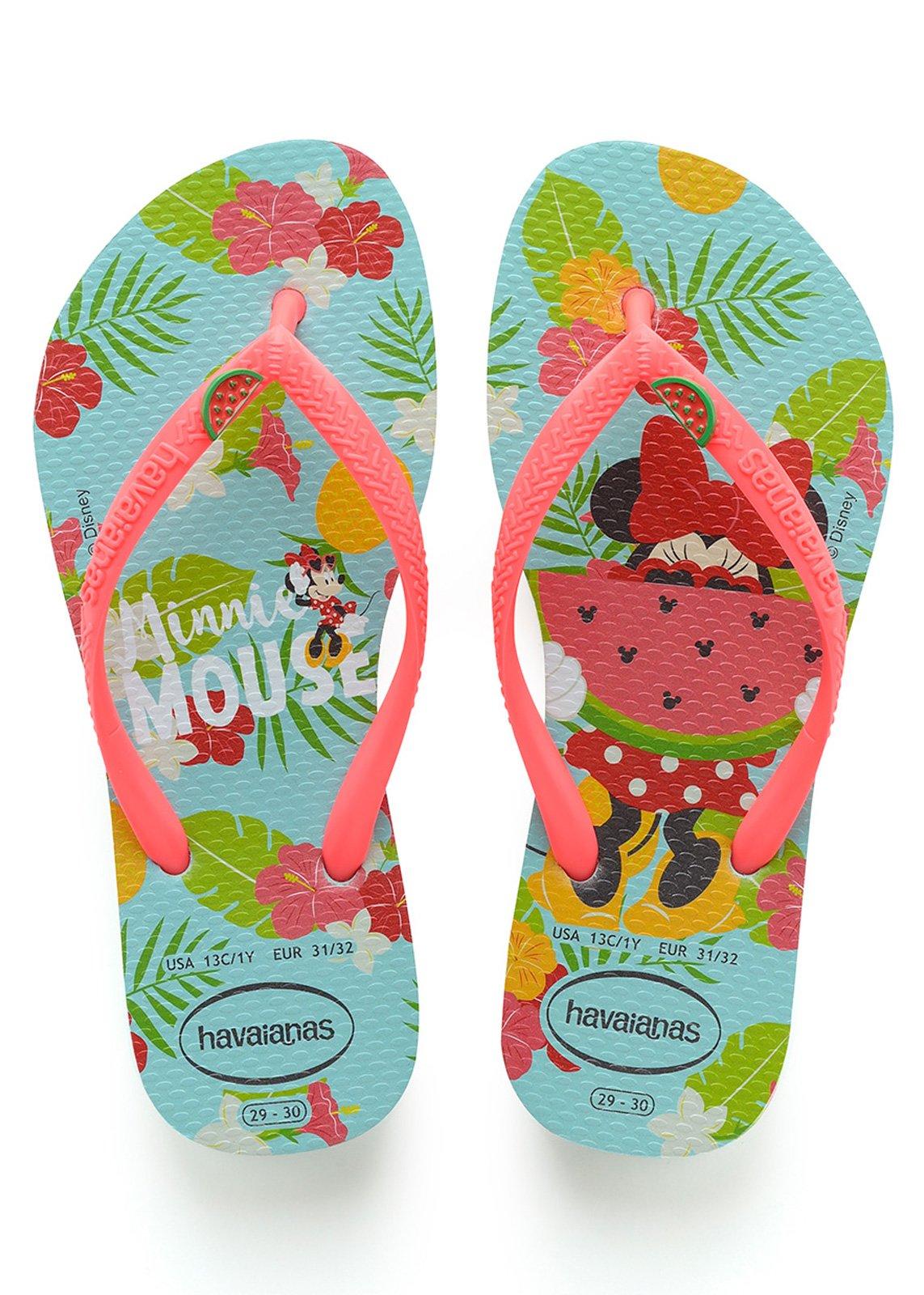 b426e4c0f4f24 Flip-Flops Kids Disney Cool Ice Blue-coralnew - Brand Havaianas