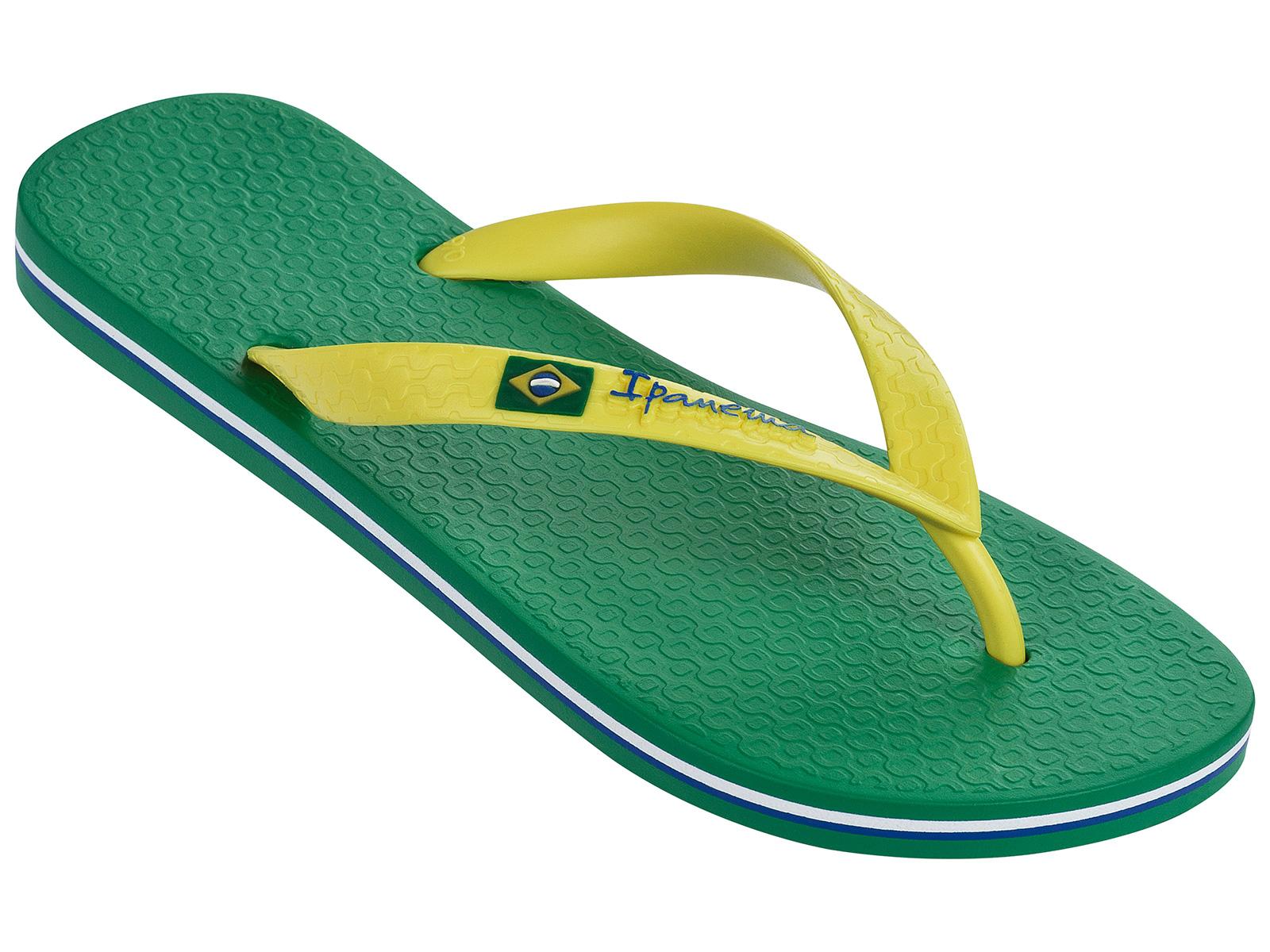 ipanema flip flops ipanema classica brasil ii ad green yellow. Black Bedroom Furniture Sets. Home Design Ideas