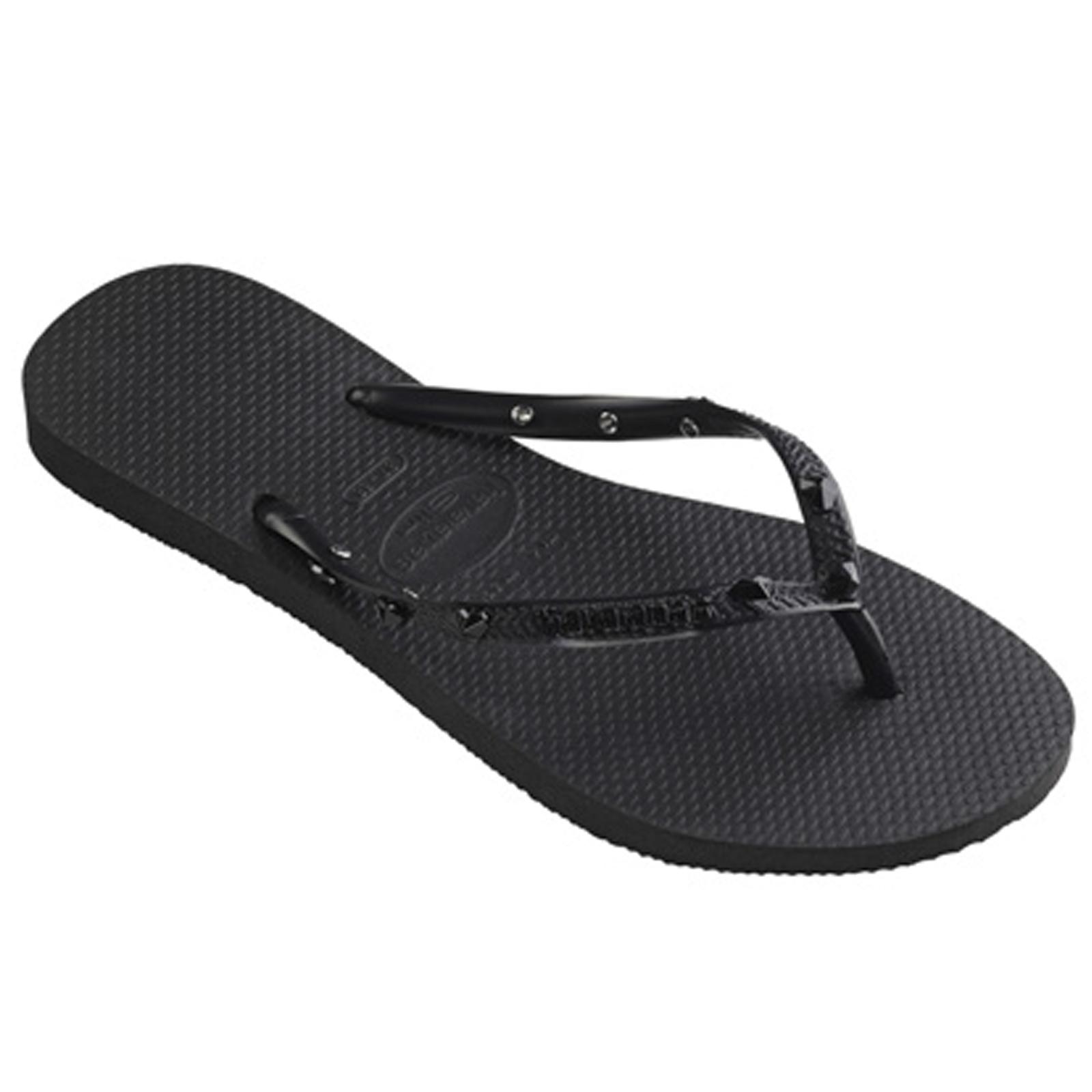 Flip-Flops Slim Hardware Black-dark Grey-dark Grey - Brand Havaianas 911d7990cd4e