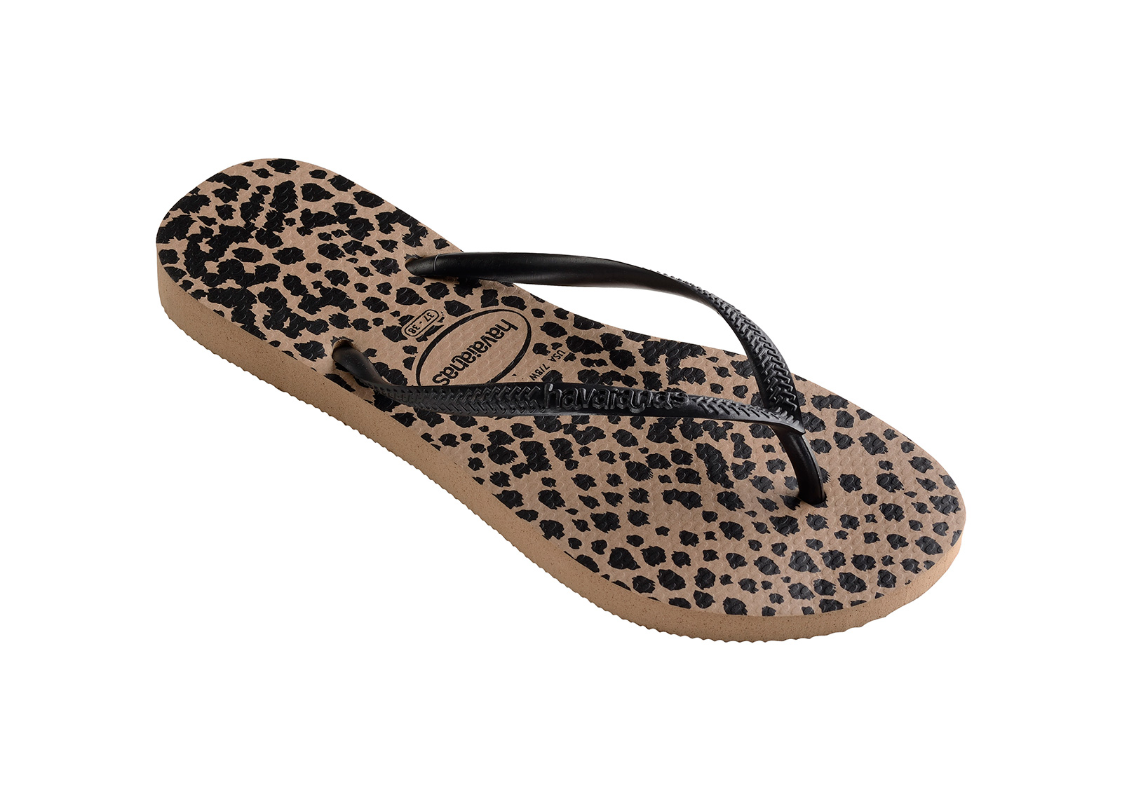 18ef584da425d5 Flip-Flops Flip-flops - Havaianas Slim Animals Rose Gold black