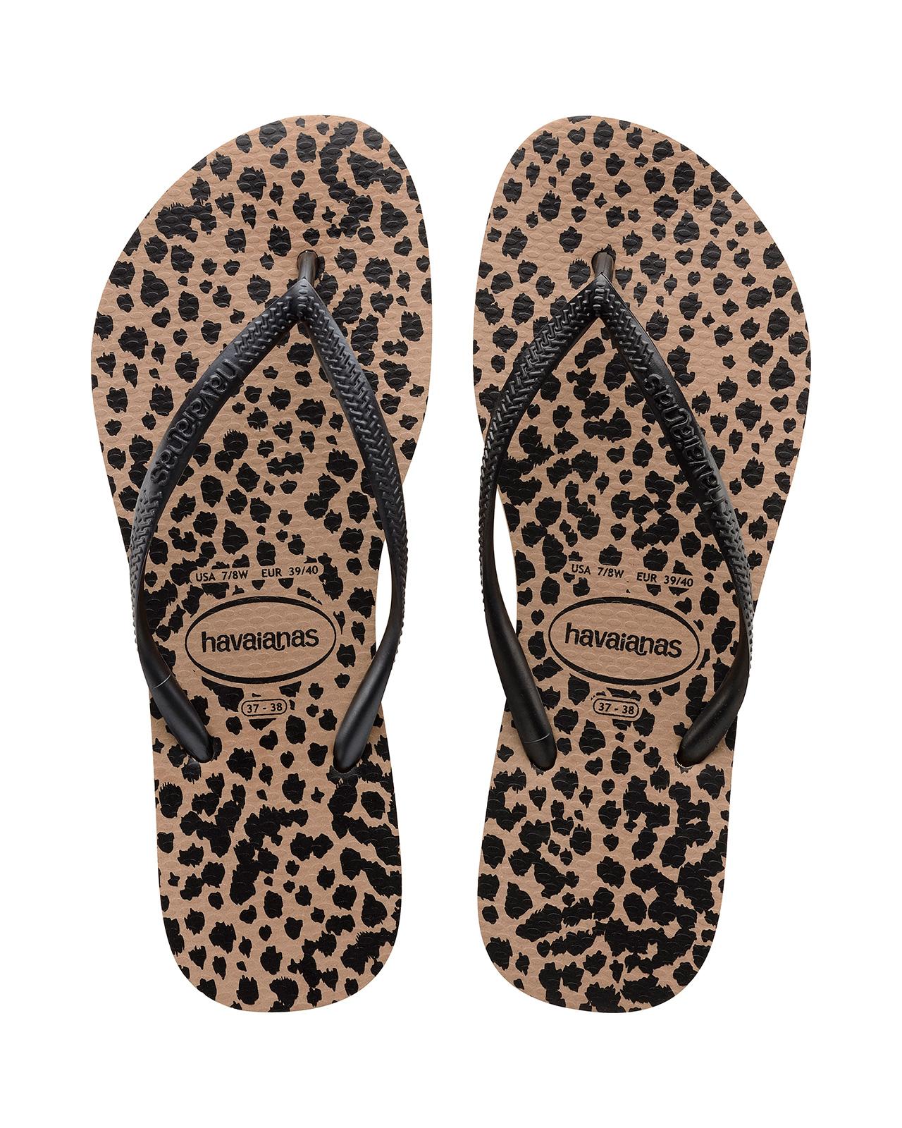 0618754251910 Flip-Flops Flip-flops - Havaianas Slim Animals Rose Gold black