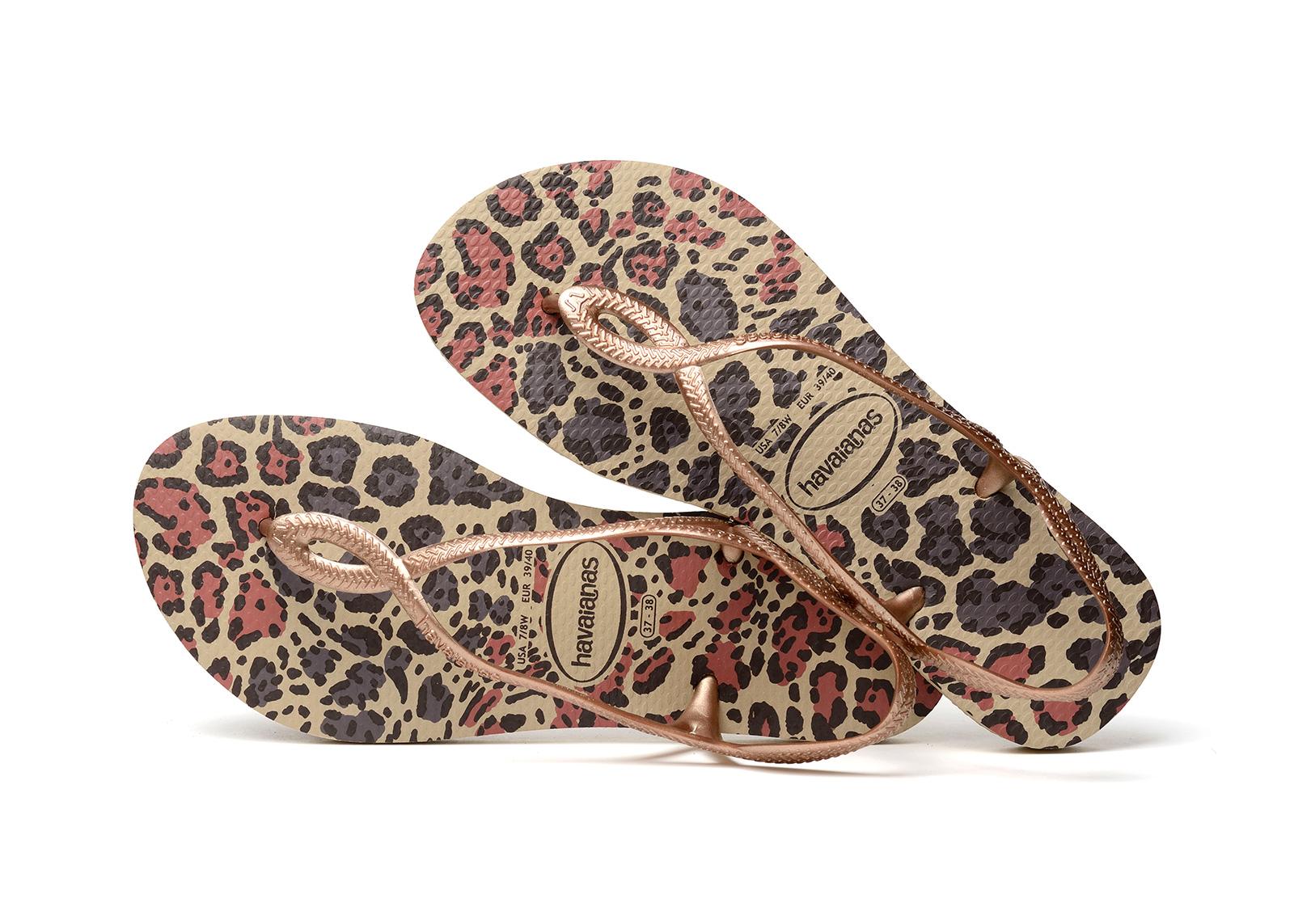7273d4e12a16 Sandals Flip-flops - Havaianas Luna Animals Sand Grey rose Gold