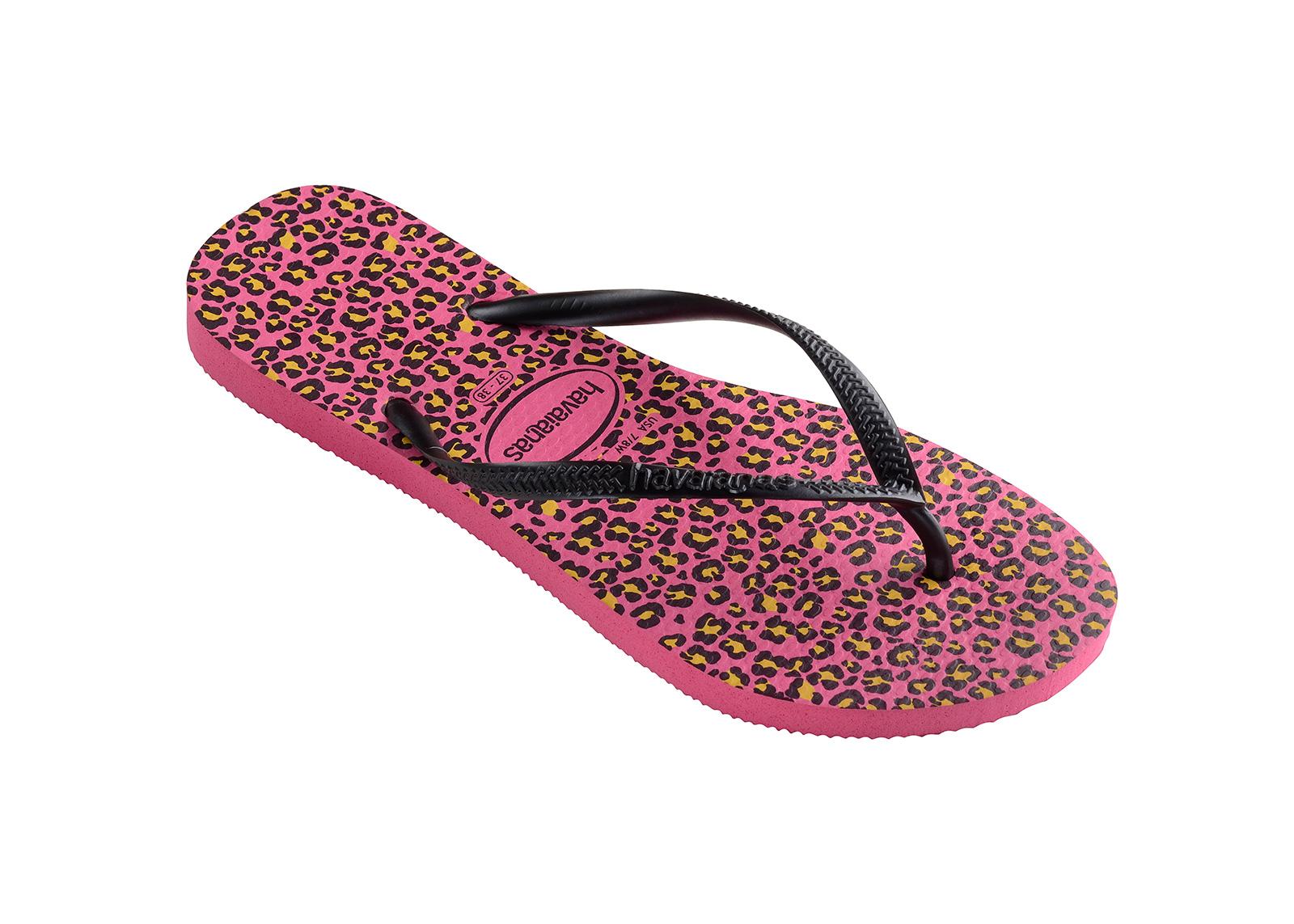 Flip-Flops Flip-Flops - Havaianas Slim Animals Shocking Pink-5102