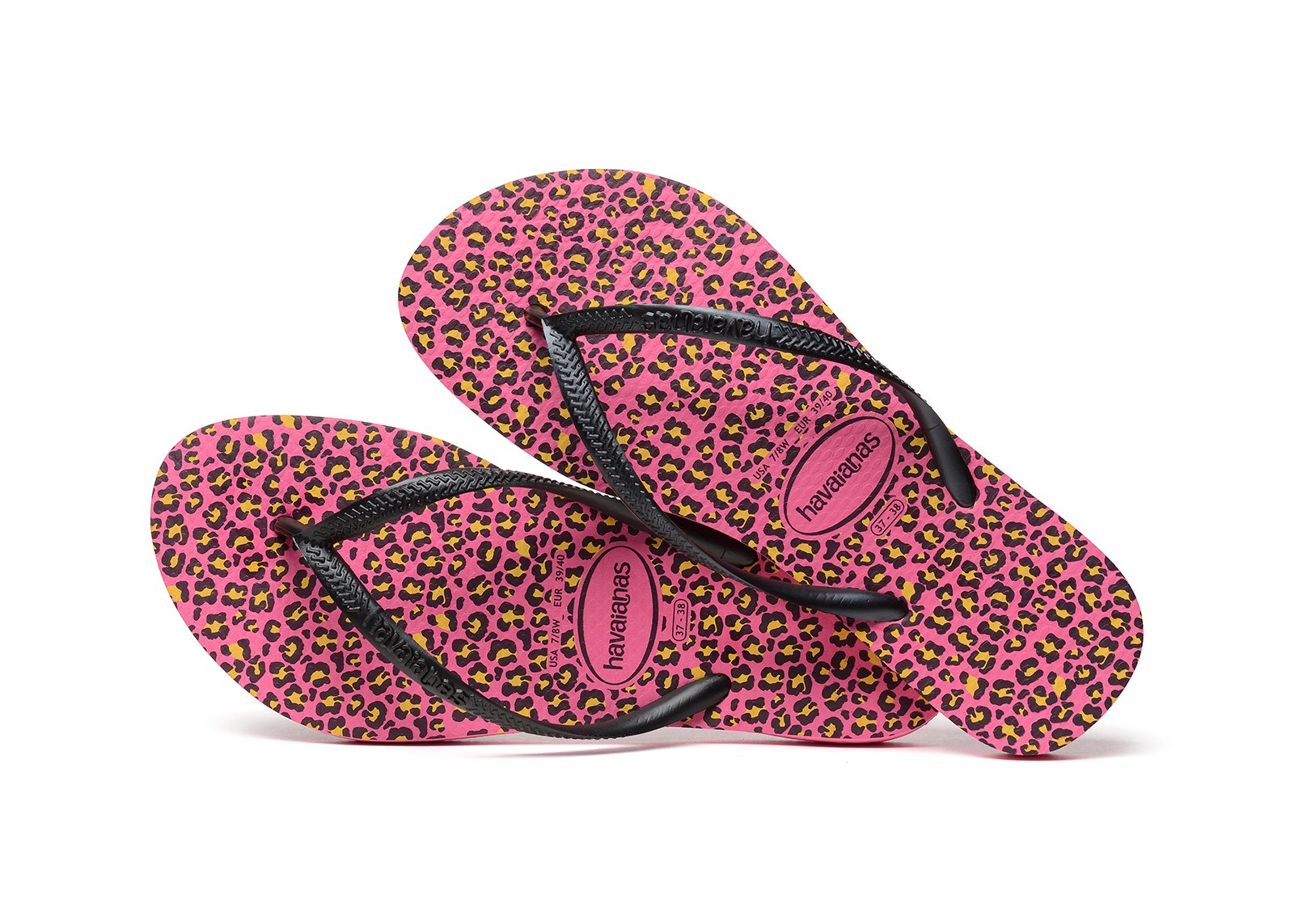 ... Flip-Flops - Havaianas Slim Animals Shocking Pink ...