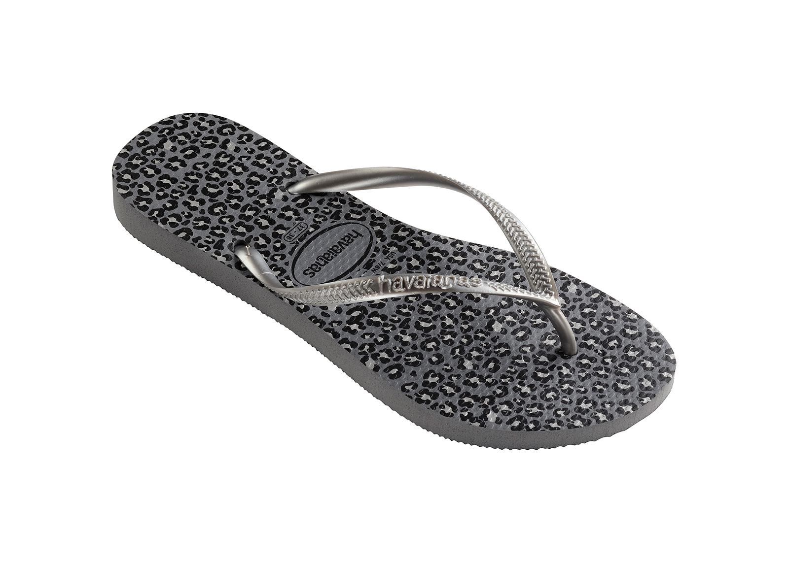 b4689ccf685bc Flip-Flops Flip-flops - Havaianas Slim Animals Steel Grey