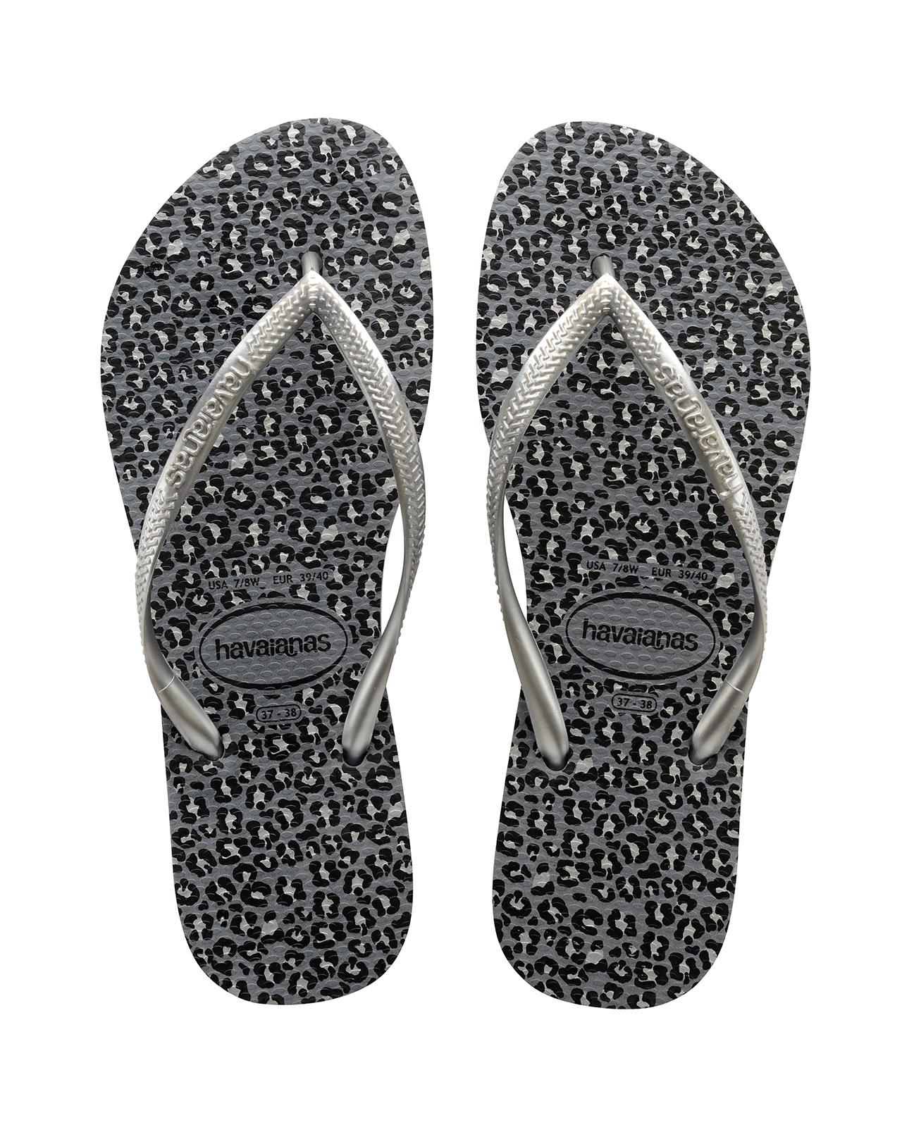 95839fea550 Flip-Flops Flip-flops - Havaianas Slim Animals Steel Grey