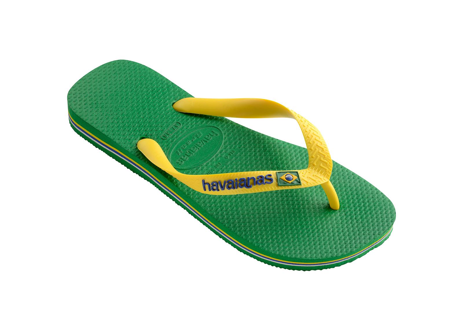 d2903ef565c62 Flip-Flops Flip-flops - Havaianas Brasil Logo Green - Brand Havaianas