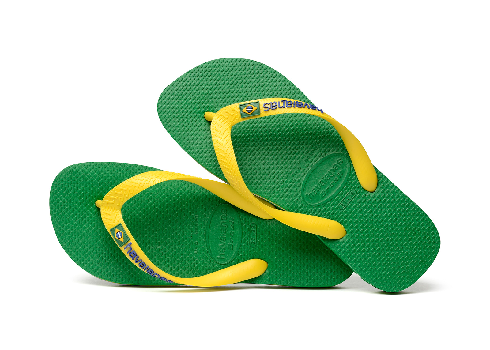 Flip Flops Flip Flops Havaianas Brasil Logo Green