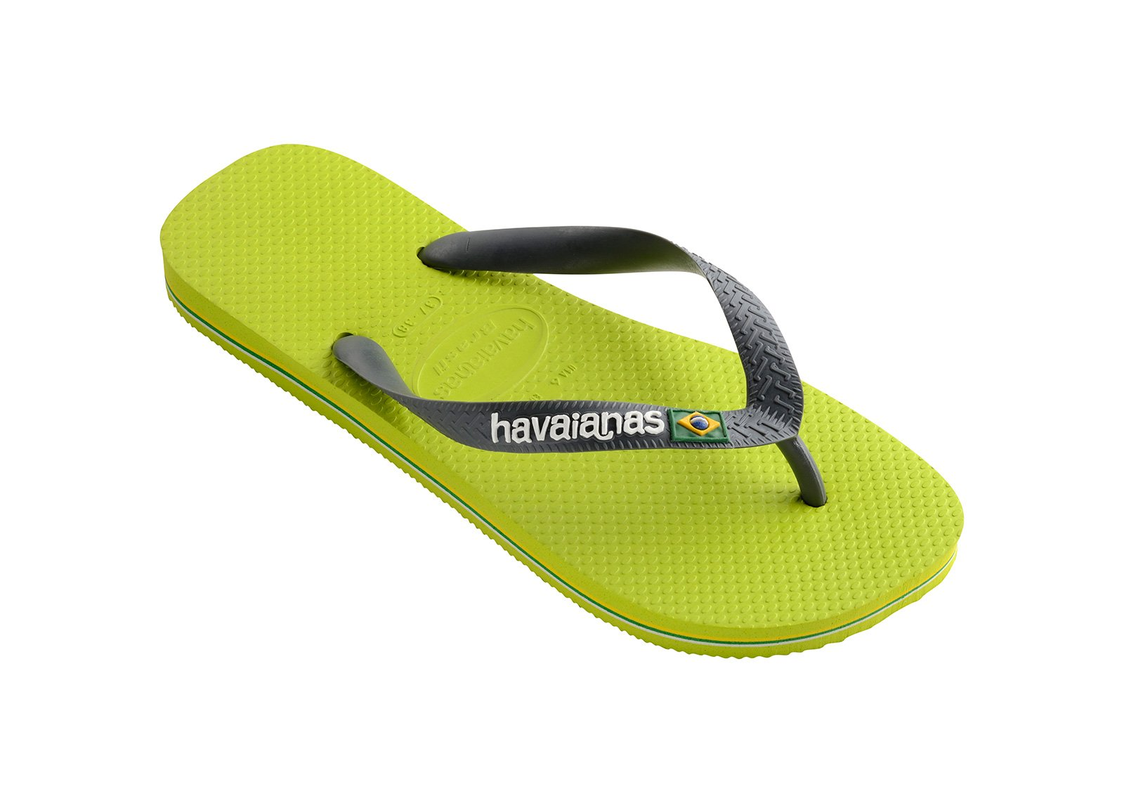 6864e6edc Flip-Flops Flip-flops - Havaianas Brasil Logo Lime Green grey