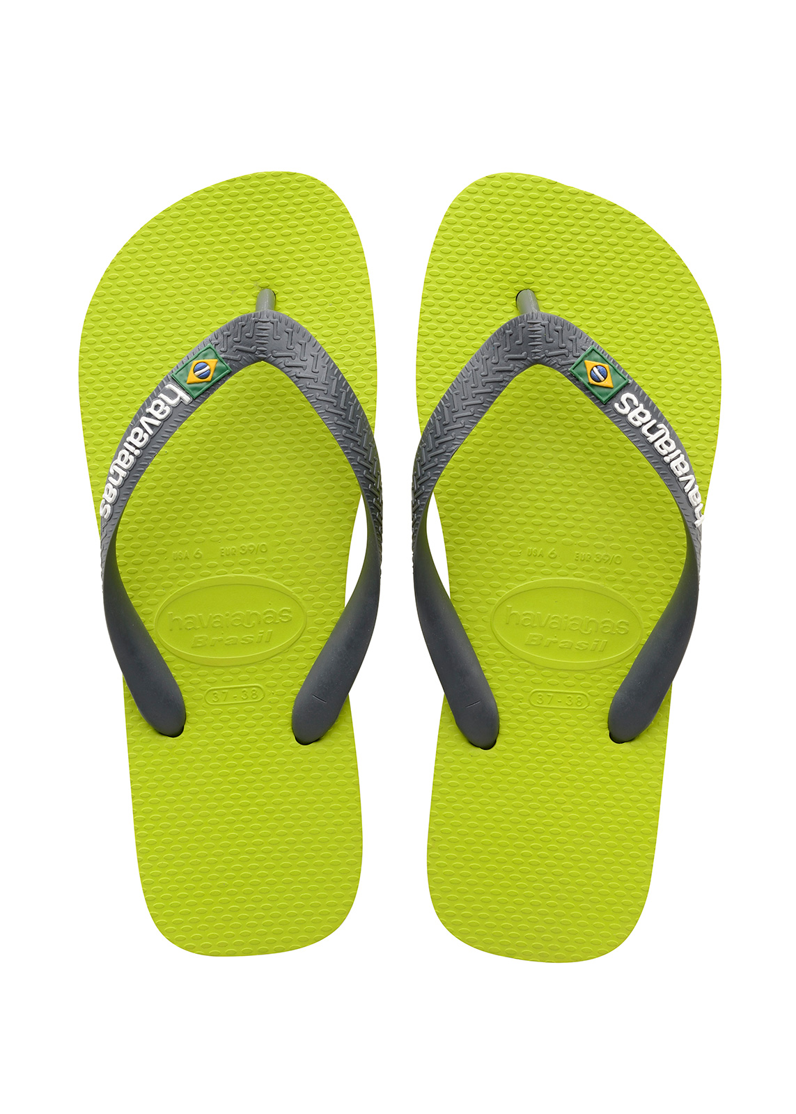 new concept 391f7 4860e Flip-flops - Havaianas Brasil Logo Lime Green/grey