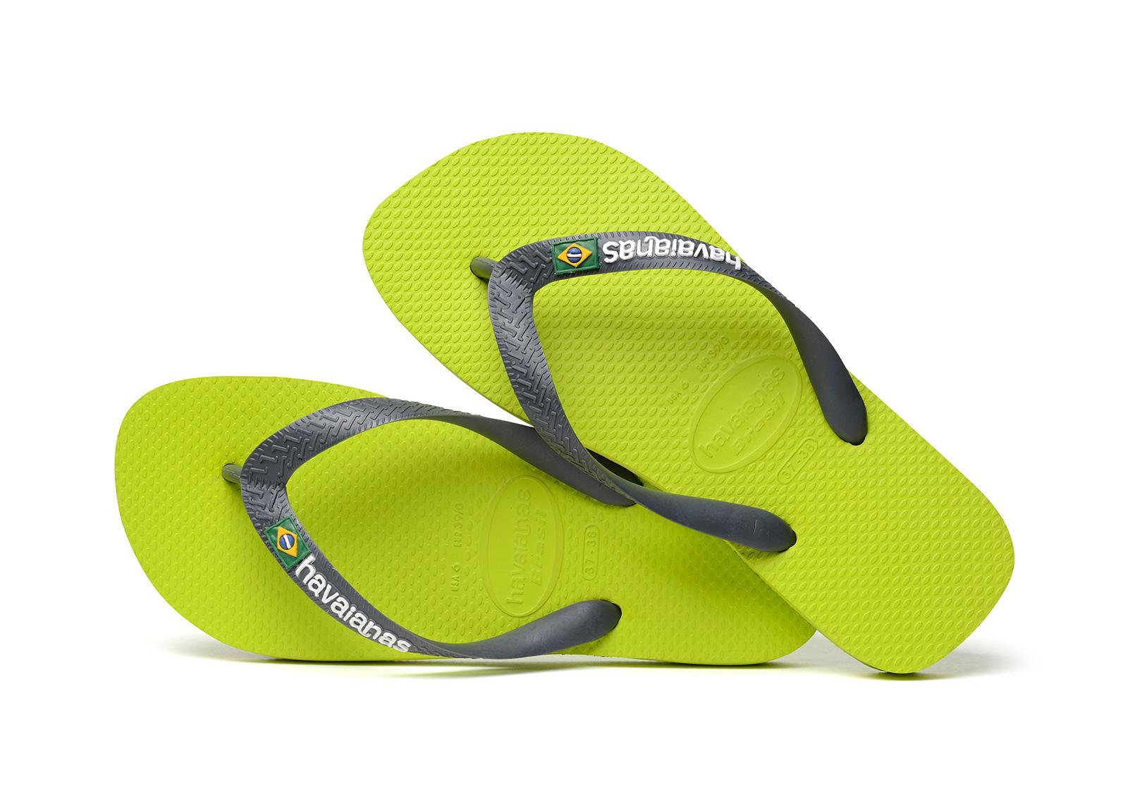 1a0f1709e86ee Flip-Flops Flip-flops - Havaianas Brasil Logo Lime Green grey