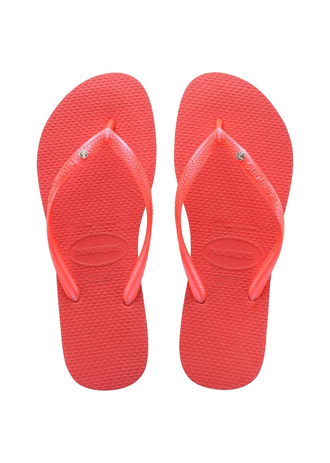 5197c39f5430b1 Flip-Flops Red Flip Flops - Havaianas Slim Crystal Sw Coralnew