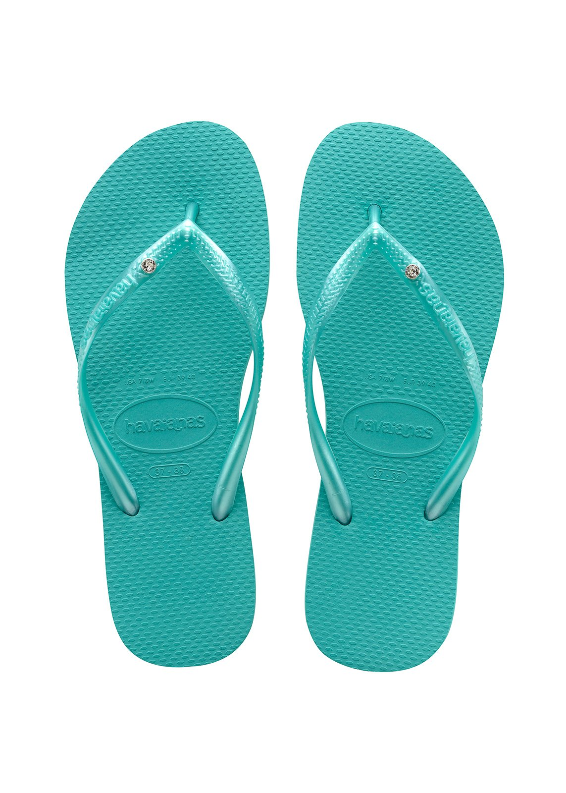 Flip-Flops Flip-Flops - Havaianas Slim Crystal Sw Lake Green-5687