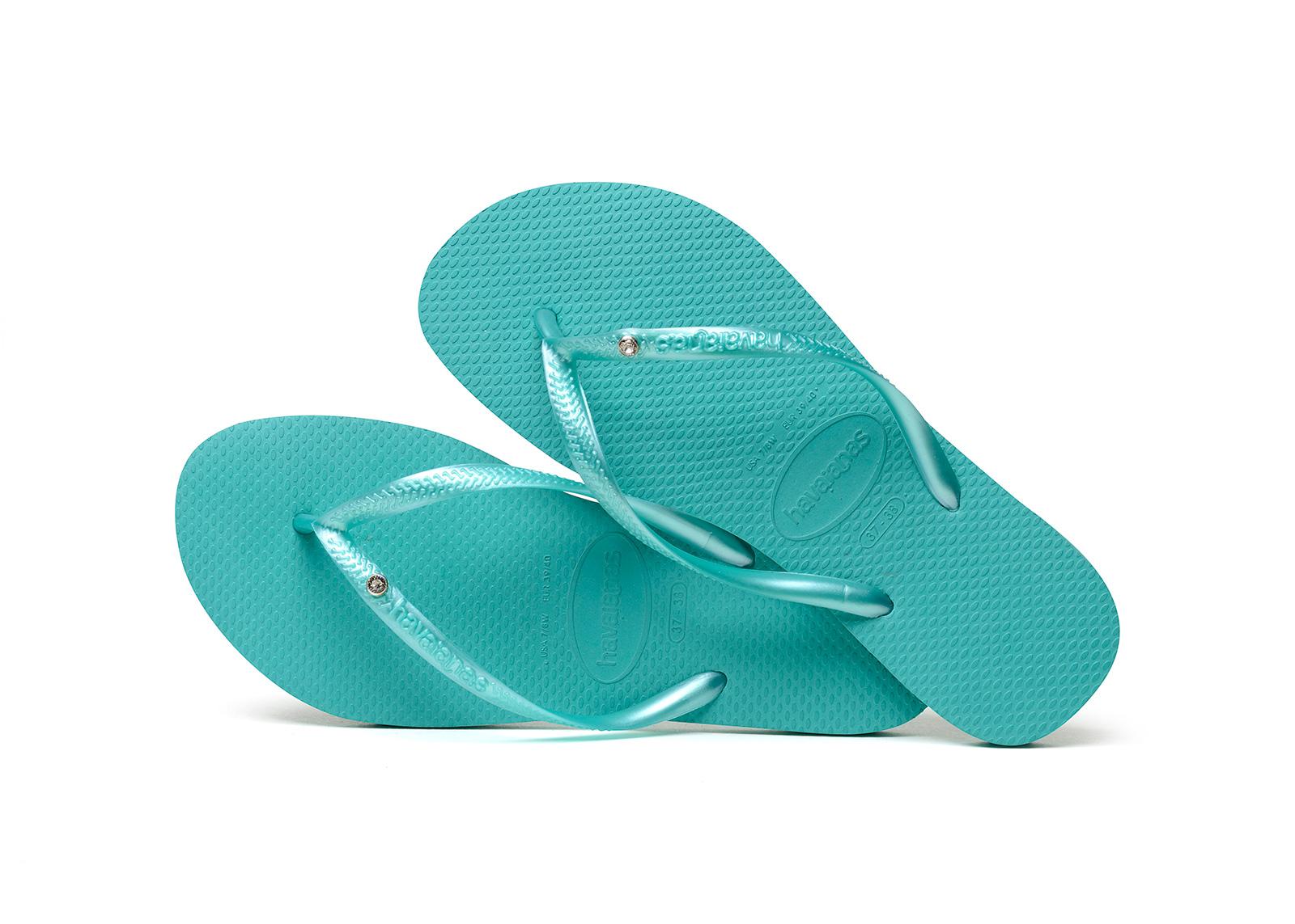 Flip-Flops Flip-Flops - Havaianas Slim Crystal Sw Lake Green-6885