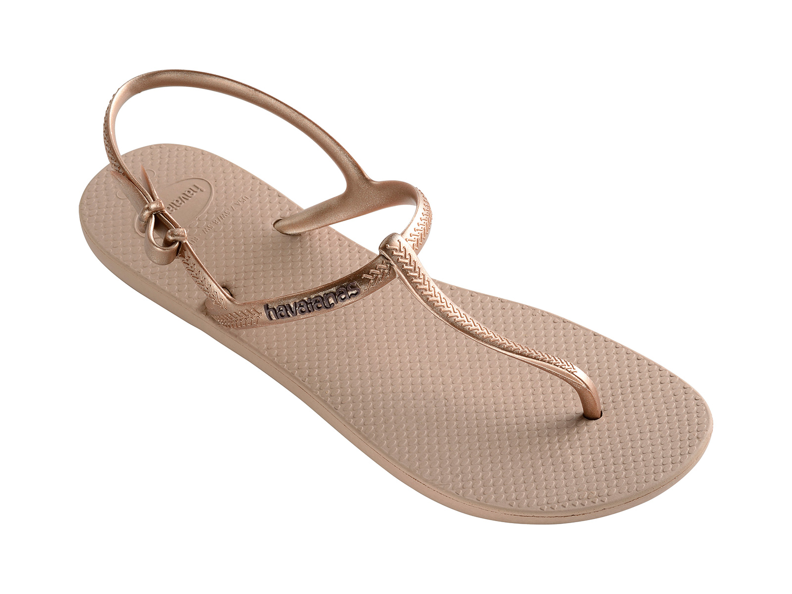 Tongs sandales Havaianas rose doré Freedom Rose Gold