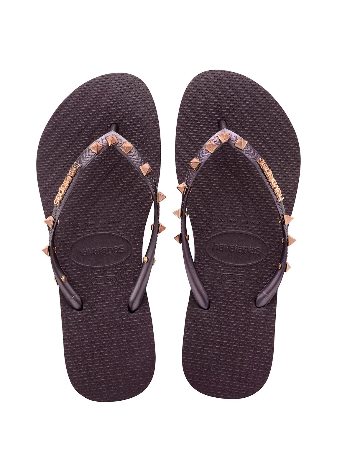 Flip-Flops Flip-Flops - Havaianas Slim Hardware Aubergine -9426