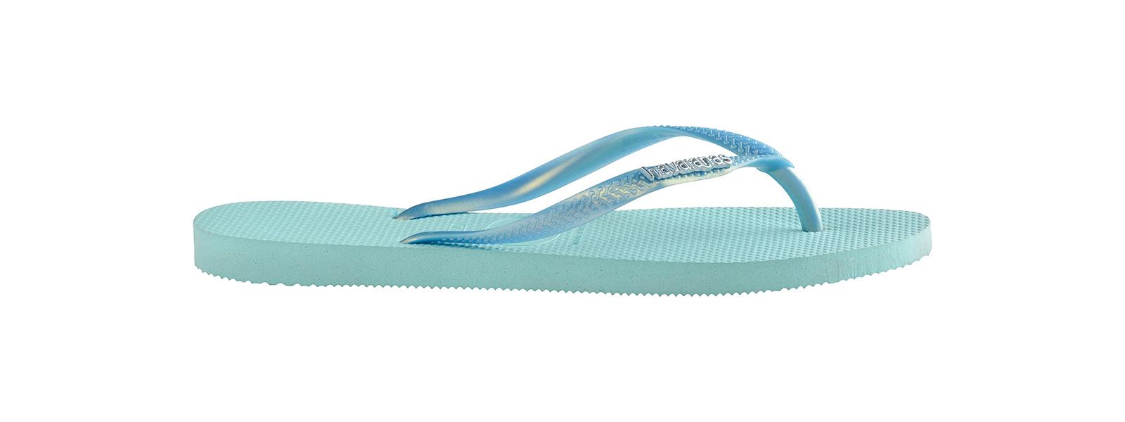 a2c603762 Flip-Flops Flip-flops - Havaianas Slim Logo Metallic Ice Blue