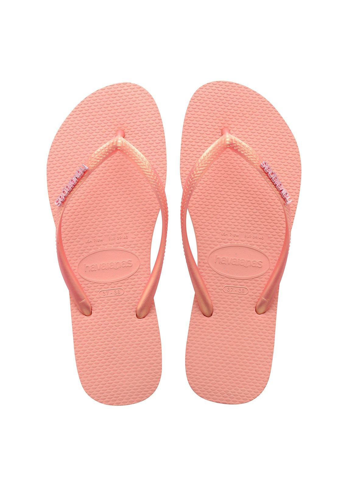 Zehentrenner Havaianas Slim Logo Metallic Light Pink