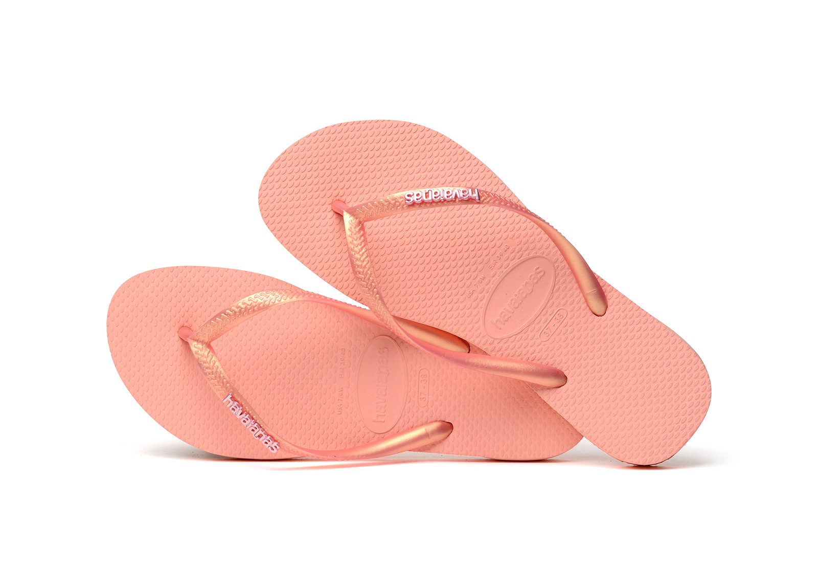 ac0f2aafd Flip-Flops Pink Flip Flops - Havaianas Slim Logo Metallic Light Pink