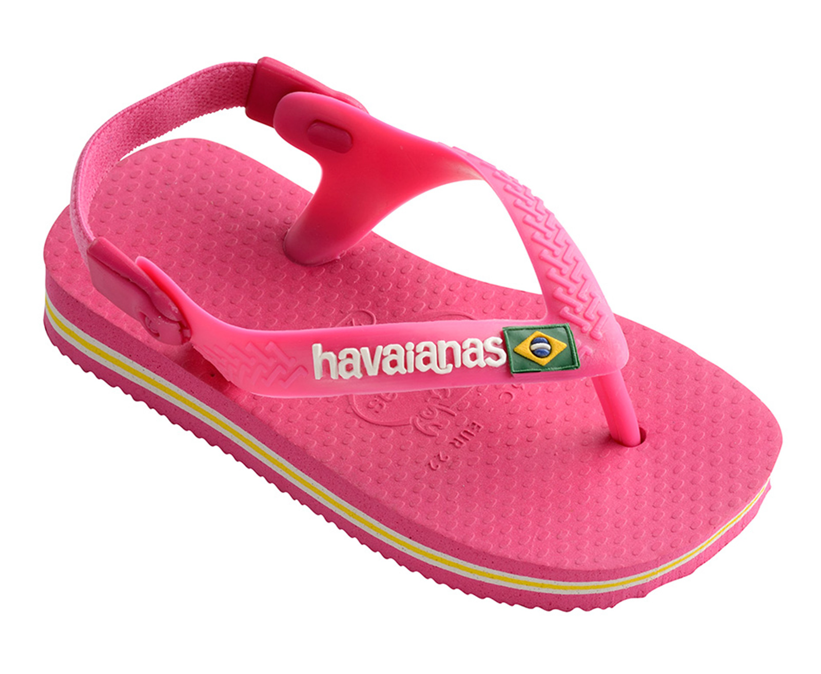 3214fd3055 Sandals Pink Flip Flops - Havaianas Baby Brasil Logo Orchid Rose