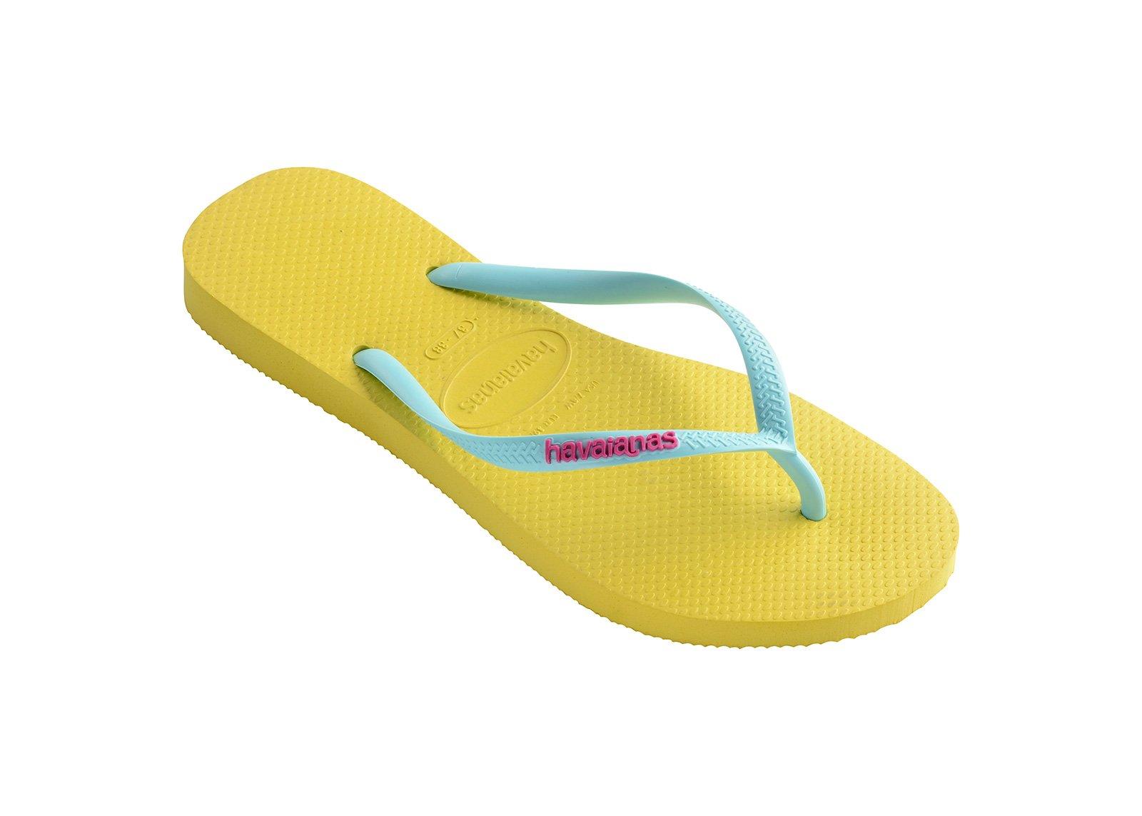 Flip-Flops Flip-Flops - Havaianas Slim Logo Revival Yellow-9113