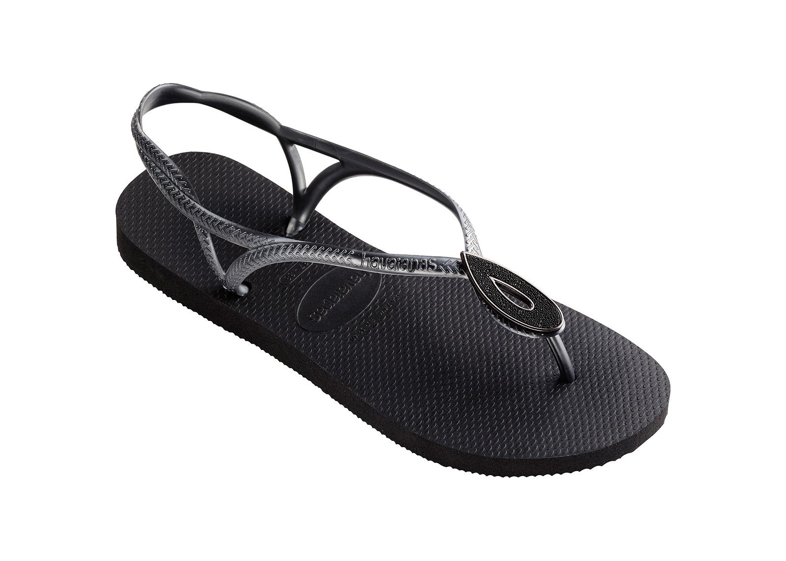 Black Flip Flops Havaianas Luna Special Black
