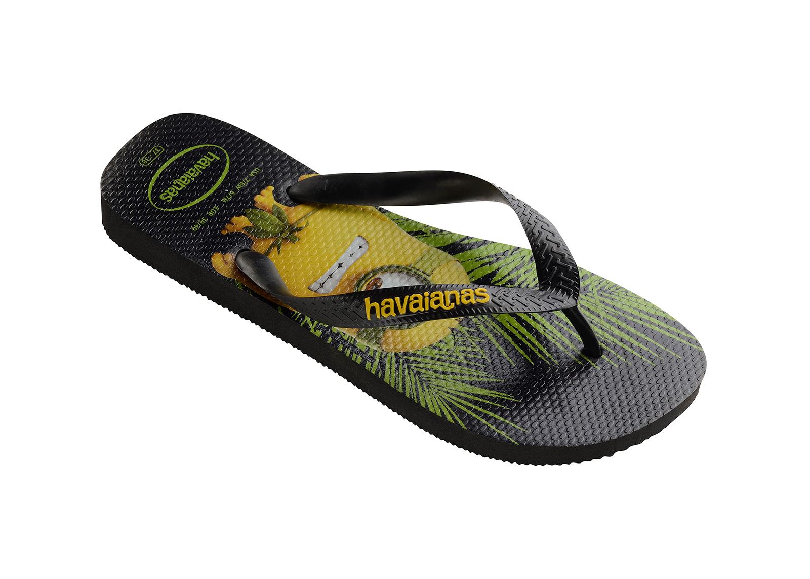 Havaianas Black Flip Flops Havaianas Minions Black
