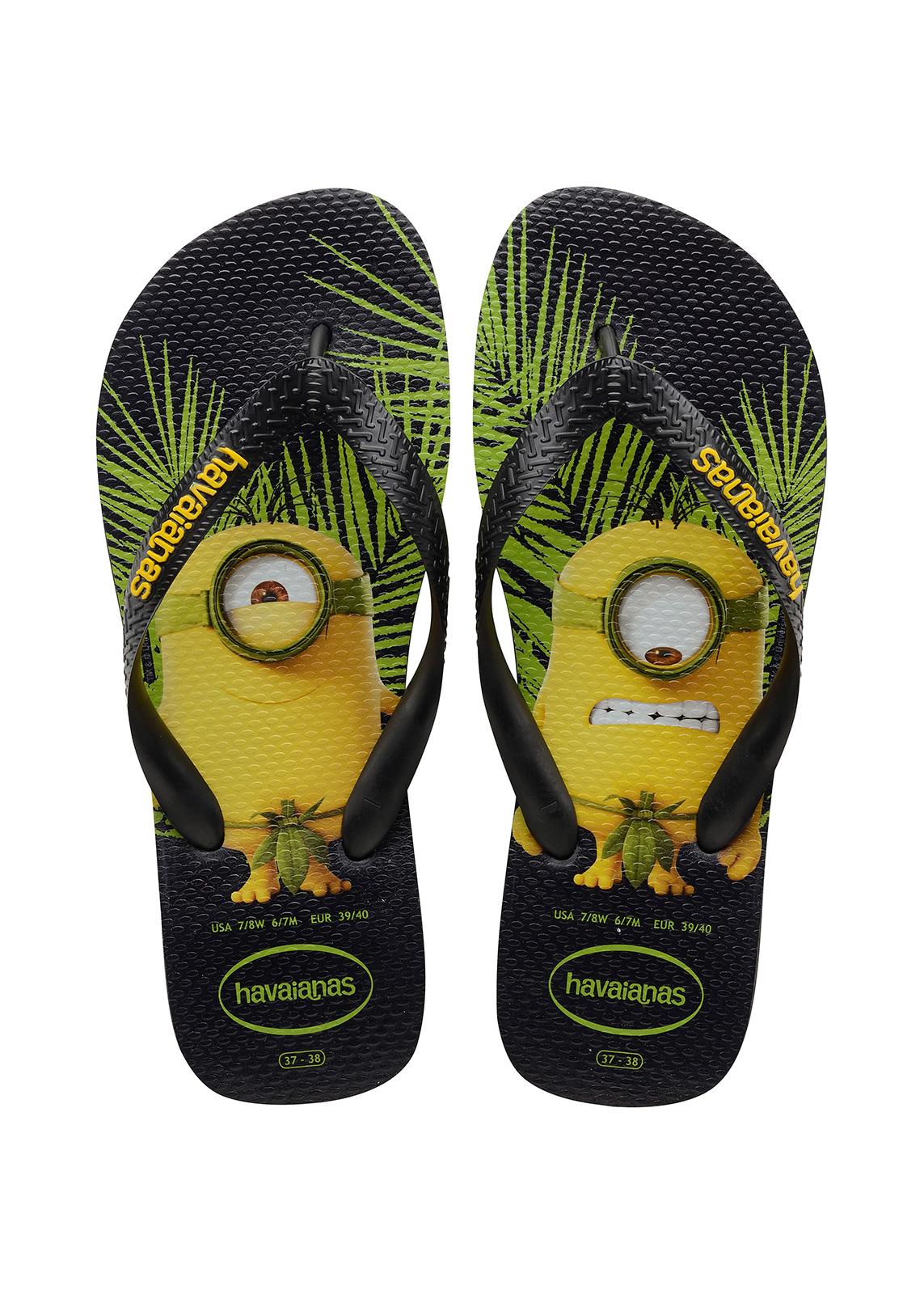 3de79b3817d1 Flip-Flops Black Flip Flops - Havaianas Minions Black