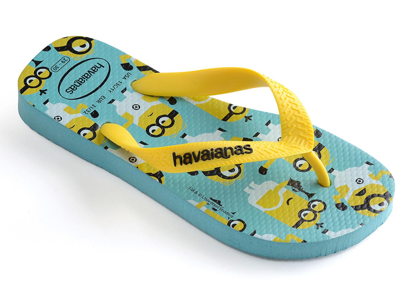 77dc559fd53df7 Flip-Flops Minions Blue - Brand Havaianas