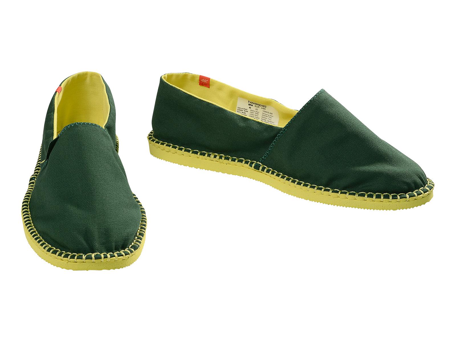 sports shoes c700e 3f1e6 Bi-colour Espadrilles Green And Yellow - Origine Ii Amazonia/yellow