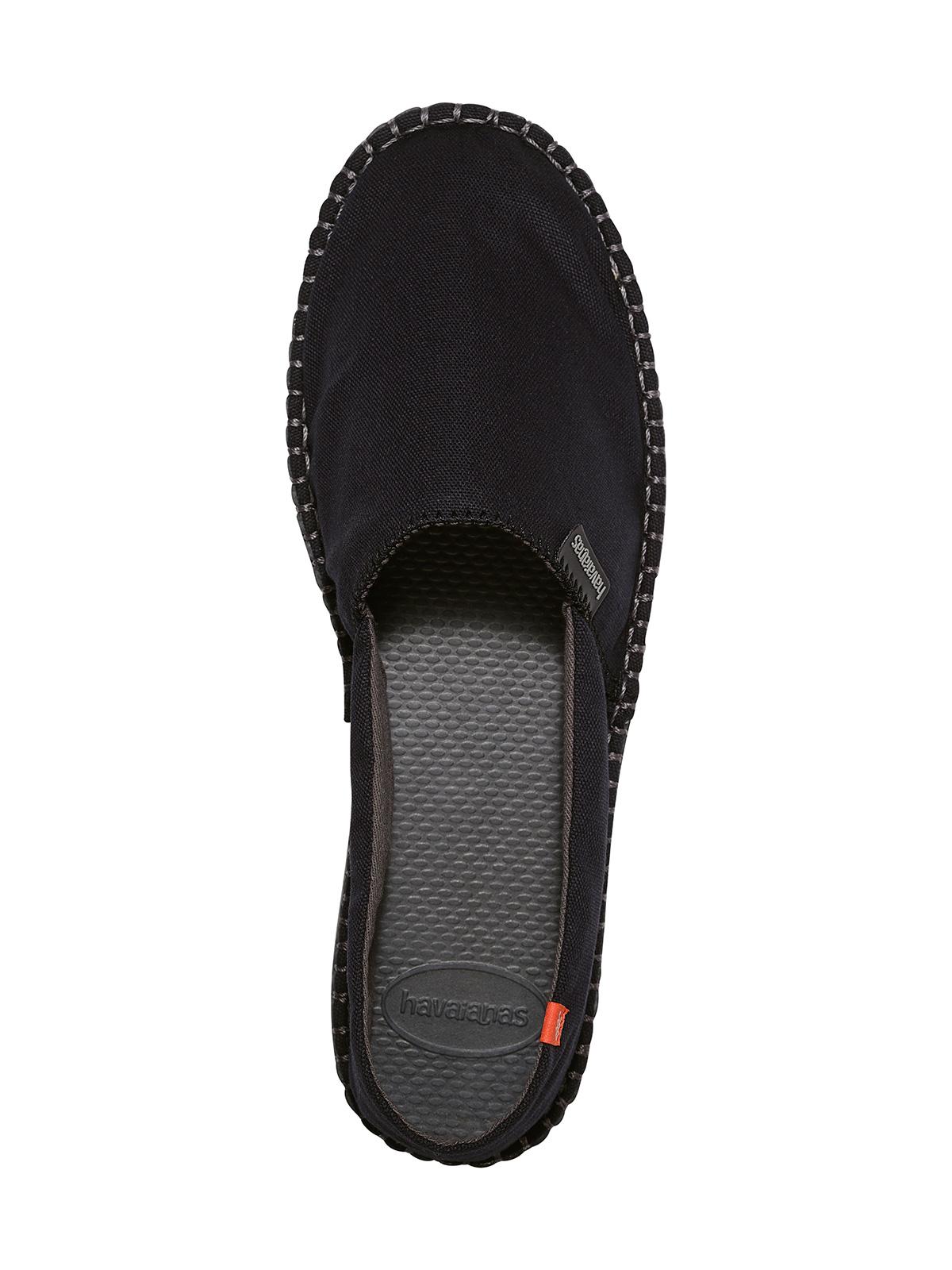 Alpargatas negras de tela y suela de goma , Origine II Black