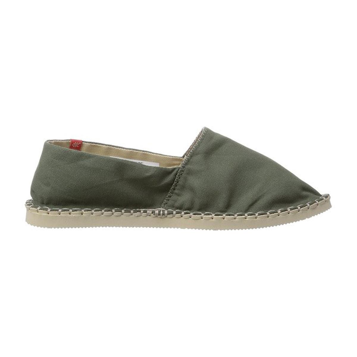 640e0d4e1ef0d ... Havaianas espadrilles with khaki green uppers and beige soles - Origine  II Green ...