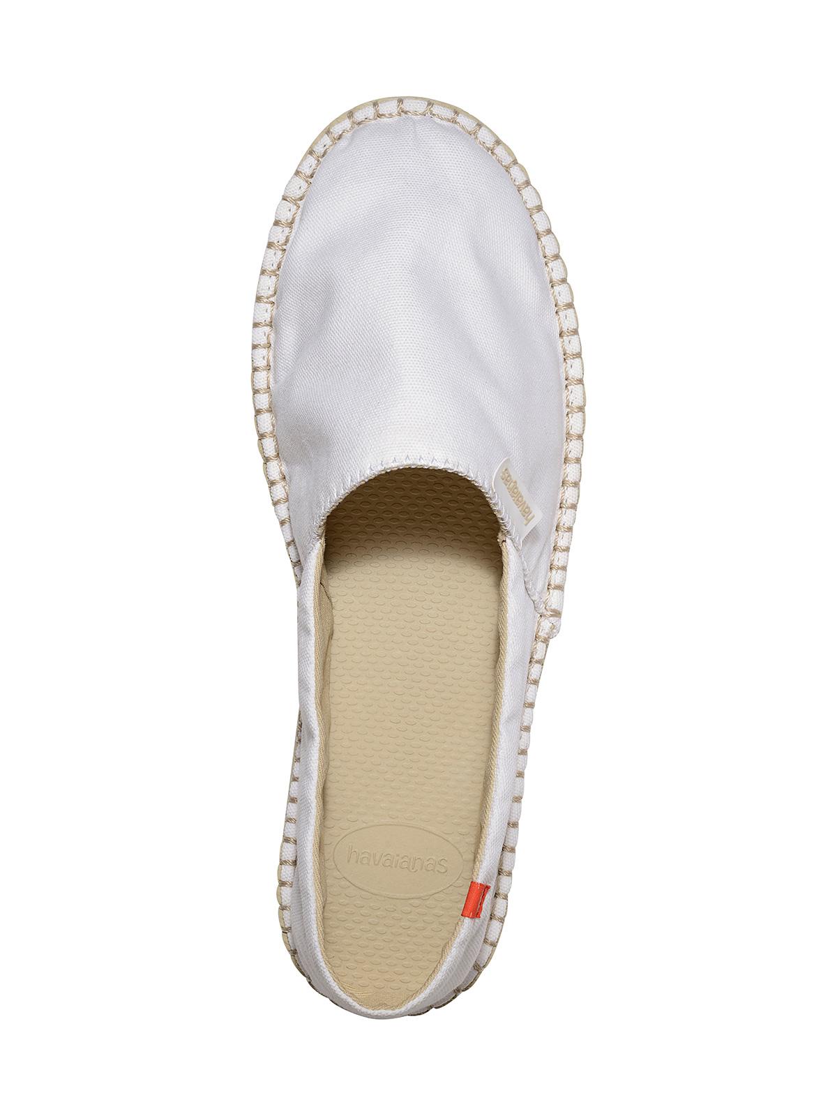 Alpargatas blancas de tela, con suela en beige , Origine II White