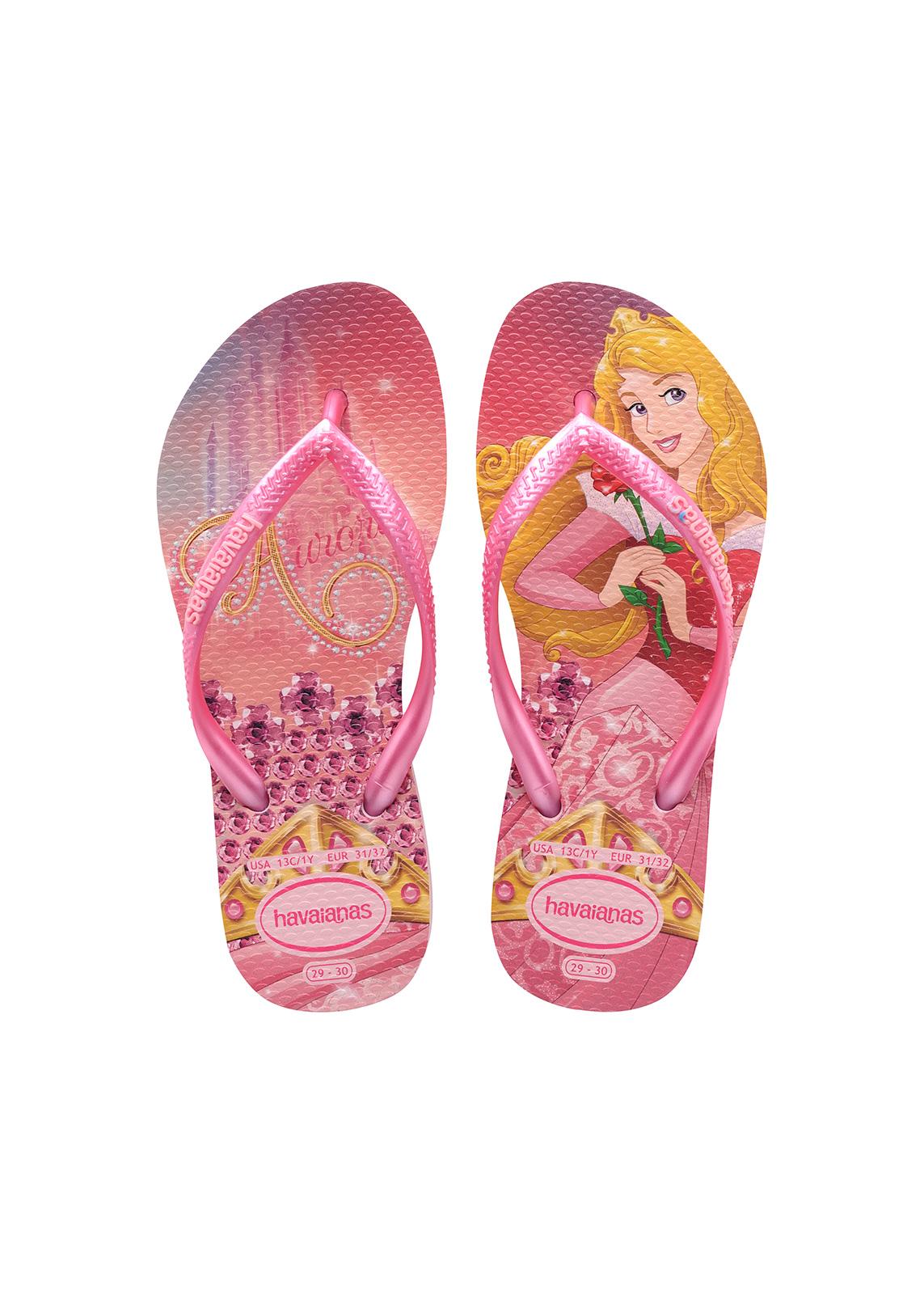 Flip-flops - Havaianas Kids Slim Princess Crystal Rose shocking 46eb933a97