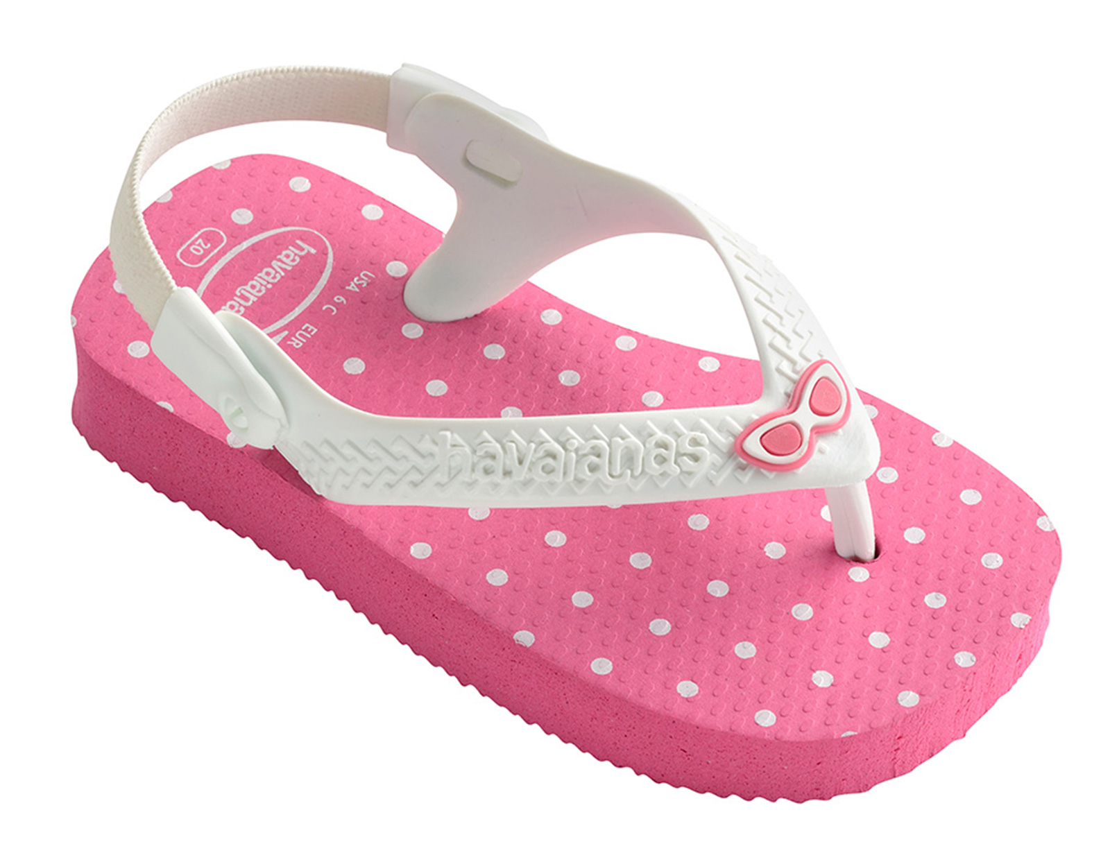 876a4383dd4e7 Sandales Tong Rose - Havaianas Baby Chic Shocking Pink white