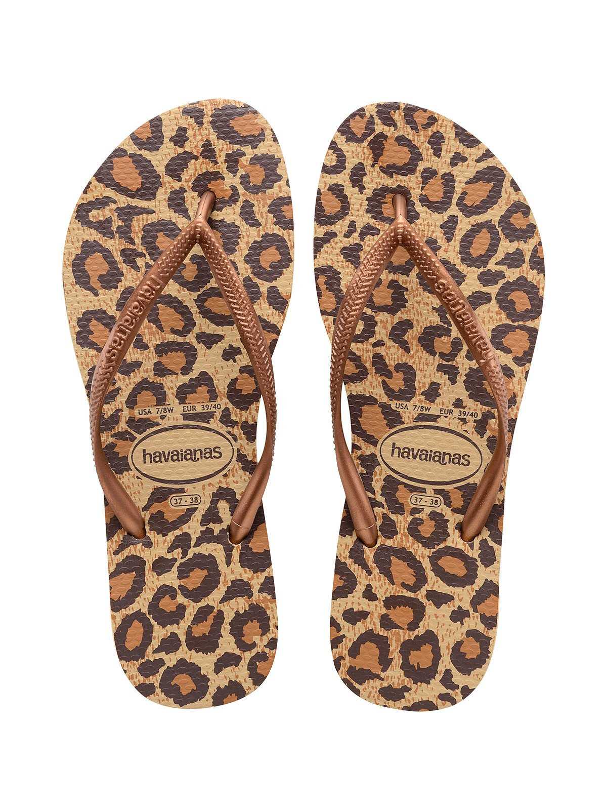 Flip Flops Beige And Brown Leopard Flip Flops Slim