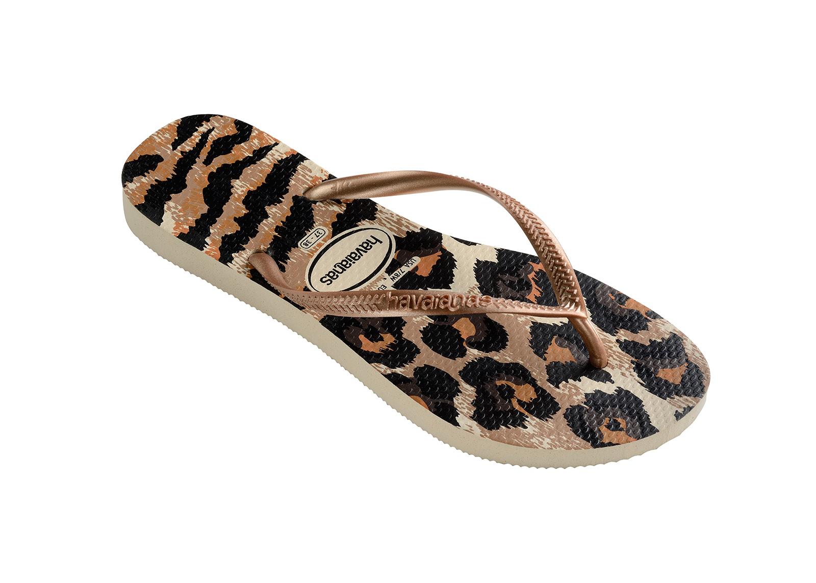 876ec819e Flip-Flops Flip-flops - Havaianas Slim Animals Beige rose Gold