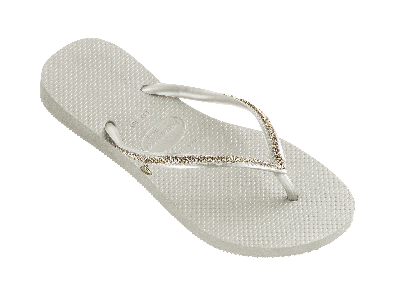 d78a00099 White Flip-flops With Swarovski Crystals - Slim Crystal Mesh Sw White -  Havaianas