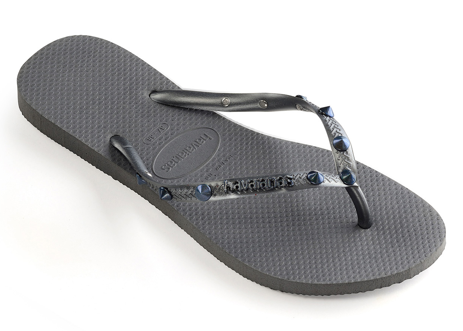Flip-Flops Slim Hardware Grey-graphite - Brand Havaianas 64b2c88ab3c1