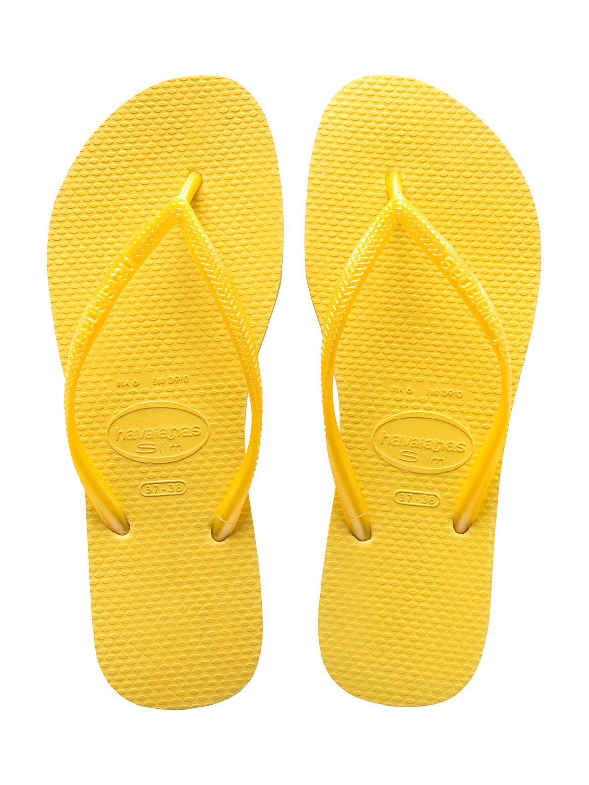 Yellow Havaianas flip ...