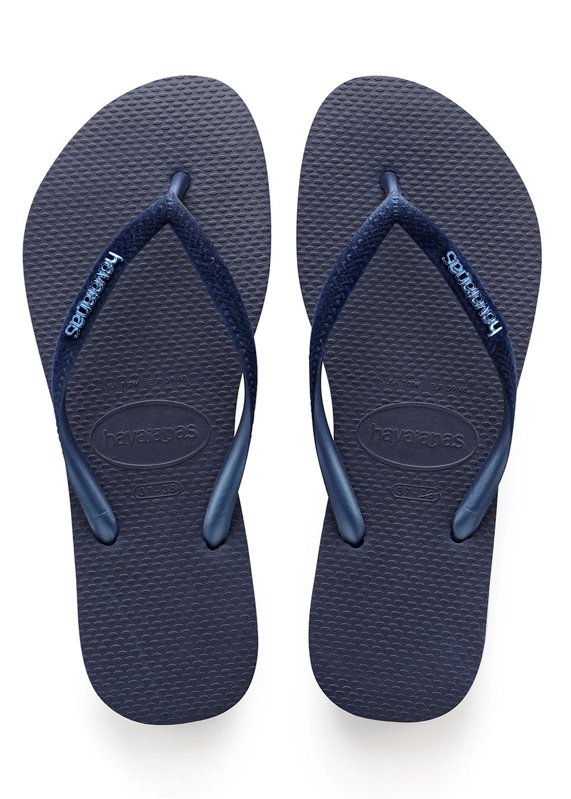Havaianas Damen Slim Velvet Zehentrenner, Blau (Navy Blue), 41/42 EU