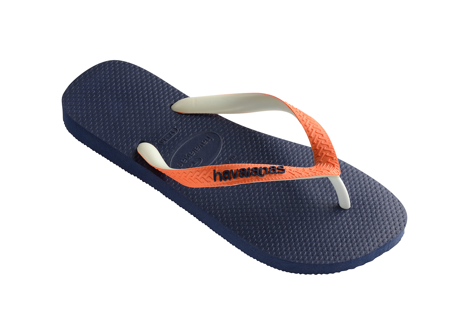 Flip-Flops - Havaianas Top Mix Navy/Neon Orange ...