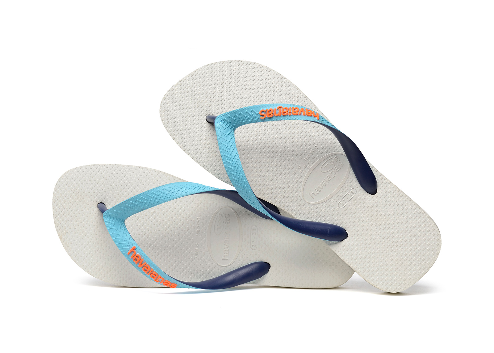 7fc4400ca2a8 Flip-Flops White Flip Flops - Havaianas Top Mix White blue navy