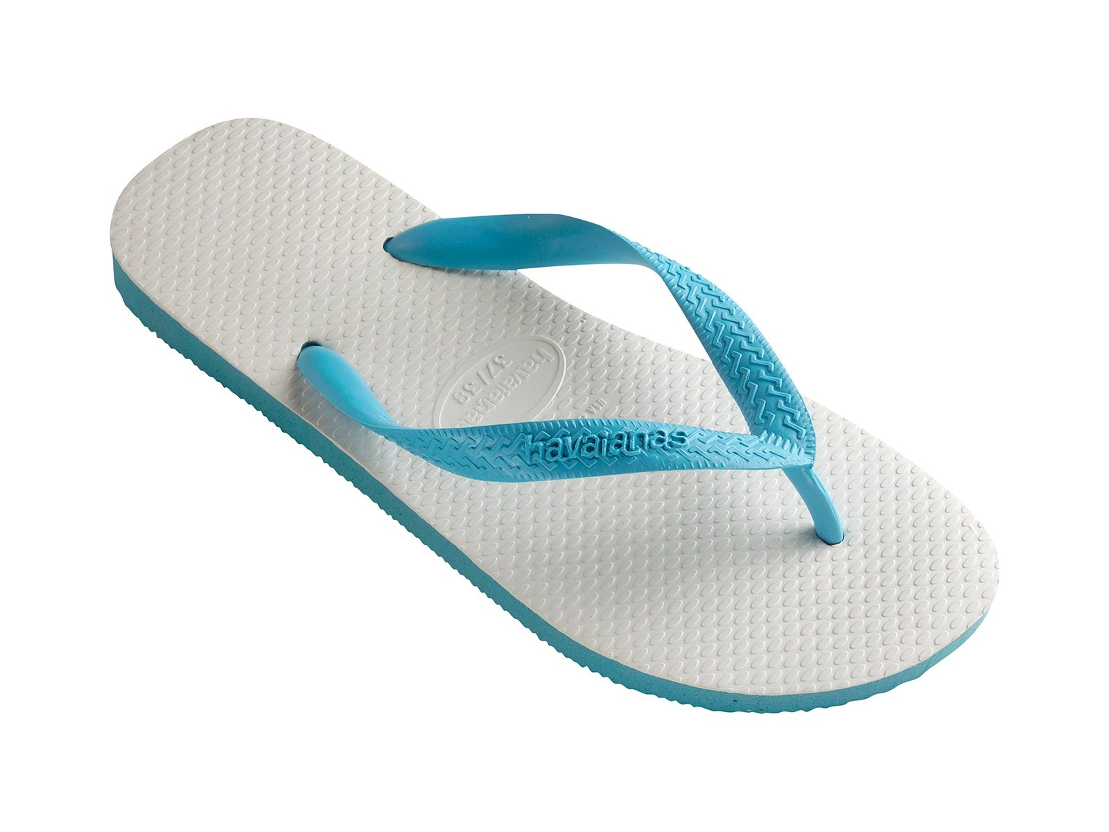 86996bd9398dd White And Sky Blue Two-tone Brazilian Flip-flops - Tradicional Blue -  Havaianas