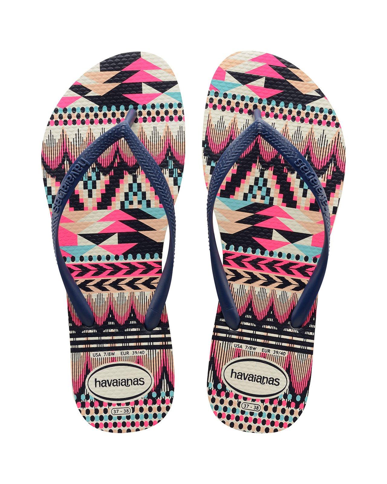 cb518e090fbb Flip-Flops Flip-flops - Havaianas Slim Tribal White navy Blue