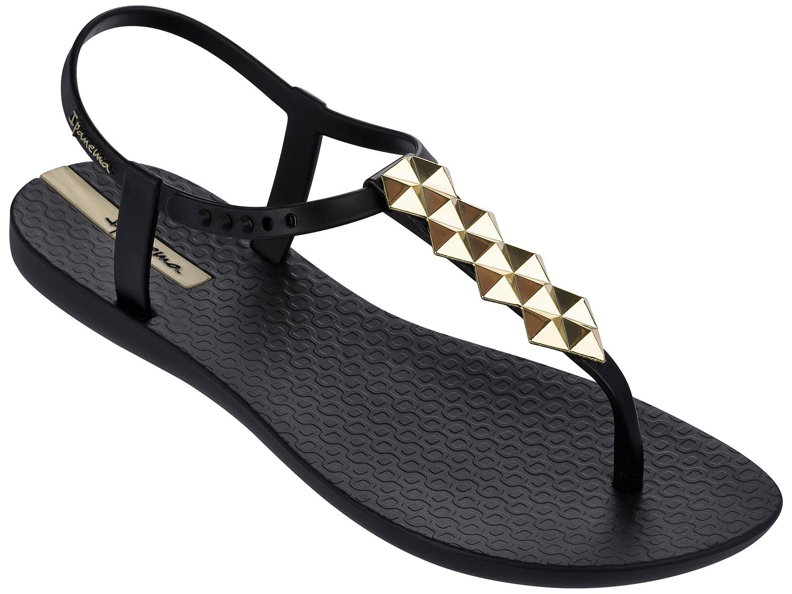 Ipanema Black Flip Flops - Ipanema Charm Ii Sandal Black -7561