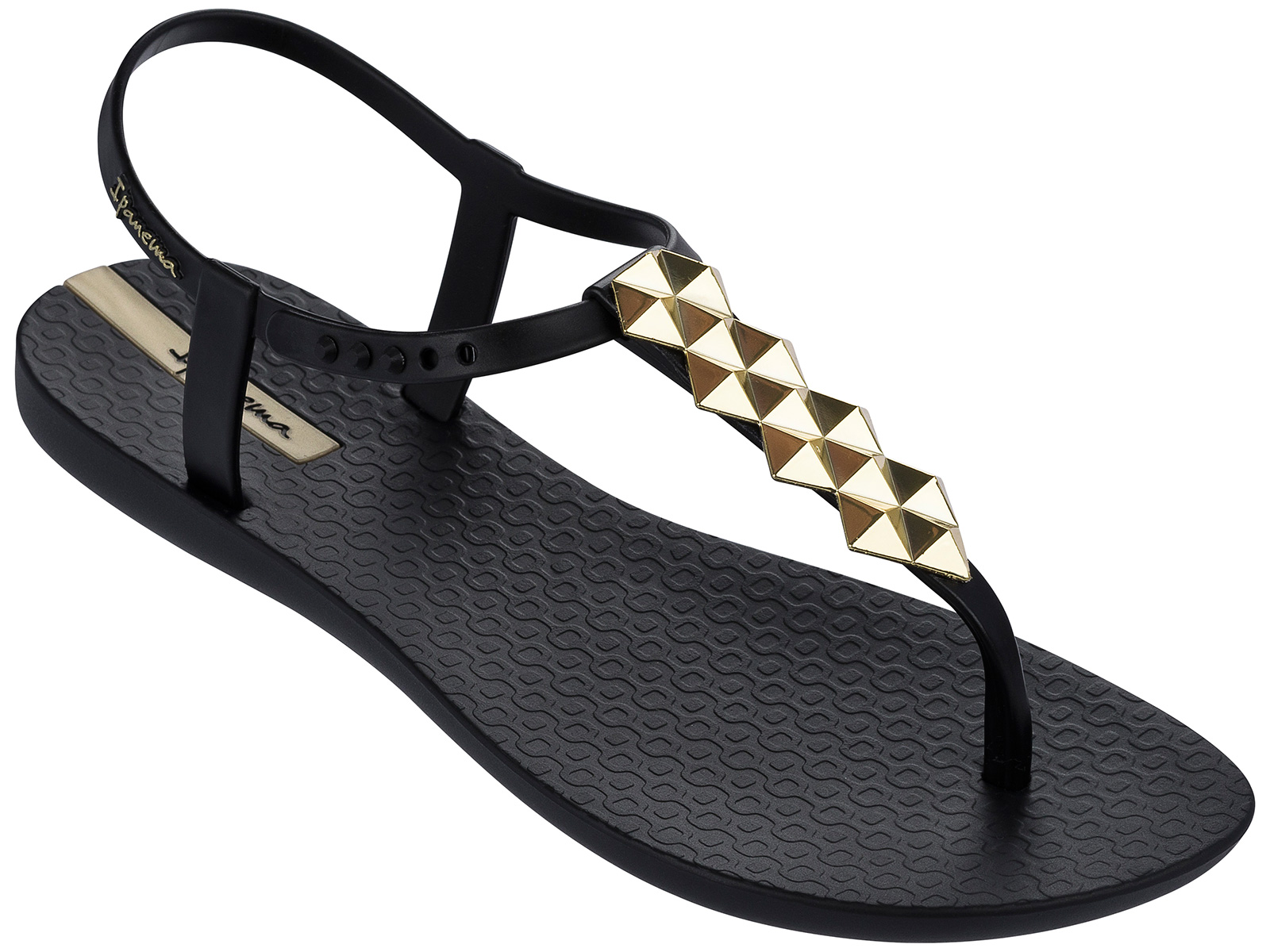 Sandals in black - Black Flip Flops Ipanema Charm Ii Sandal Black Black Gold