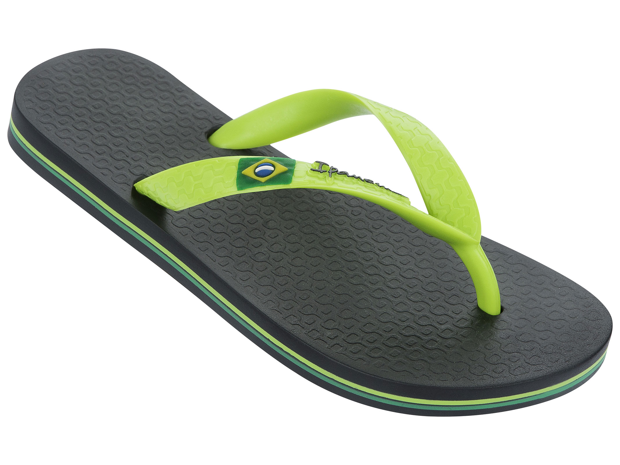classica men 39 s flip flops in black and shades of green from the ipanema brand made in brazil. Black Bedroom Furniture Sets. Home Design Ideas