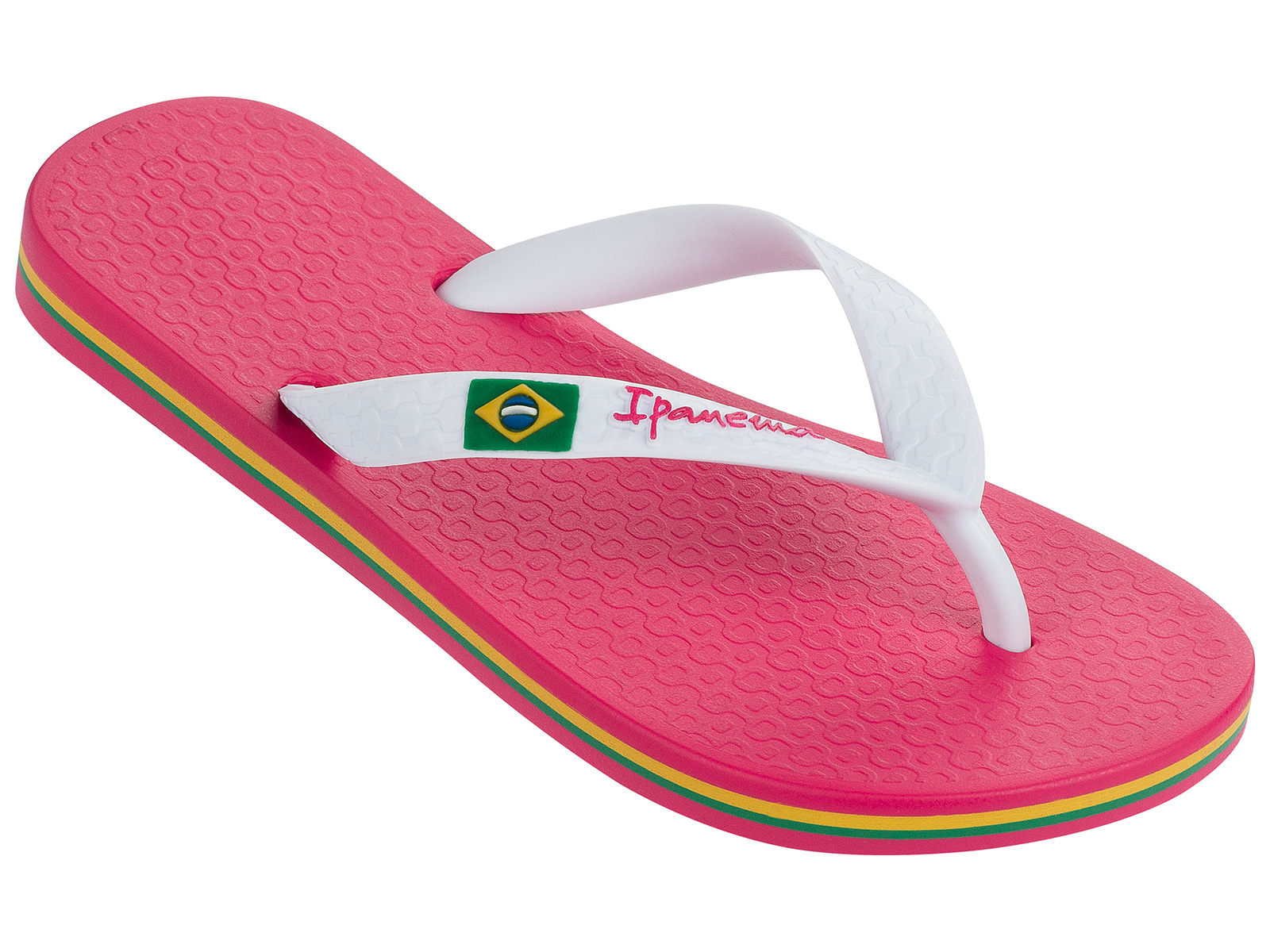 ipanema flip flops ipanema classica brasil ii kids pink white. Black Bedroom Furniture Sets. Home Design Ideas
