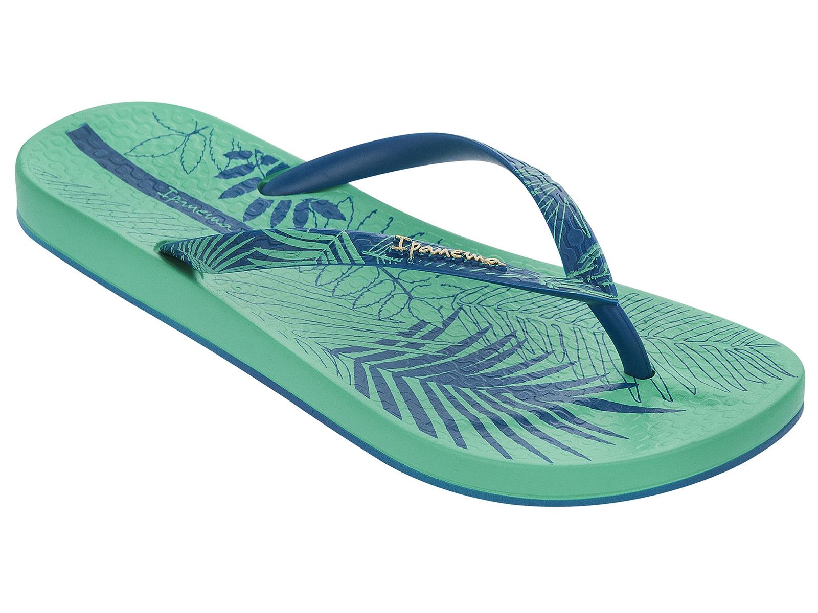 68e0a2b8438363 Flip-Flops Foliage Fem - Green blue - Brand Ipanema